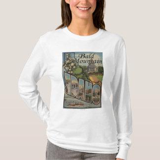 Bald Mountain, Idaho - Large Letter Scenes T-Shirt