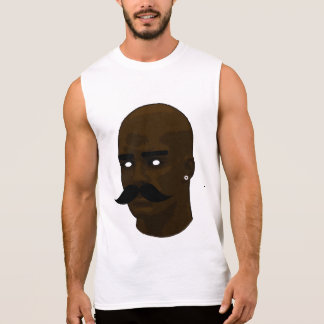 Bald Moustache Sleeveless Shirt