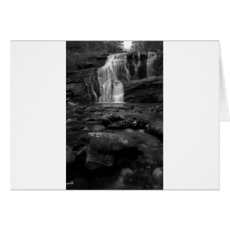 Bald River Falls bw jpg Greeting Cards