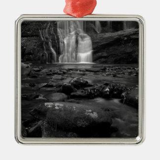 Bald River Falls bw.jpg Silver-Colored Square Decoration