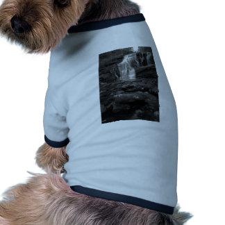 Bald River Falls bw jpg Pet Clothing