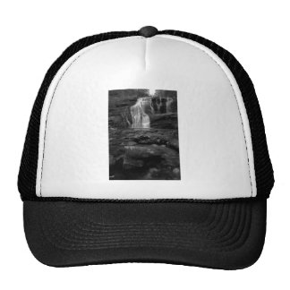 Bald River Falls bw jpg Trucker Hats