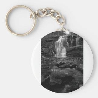 Bald River Falls bw.jpg Keychain