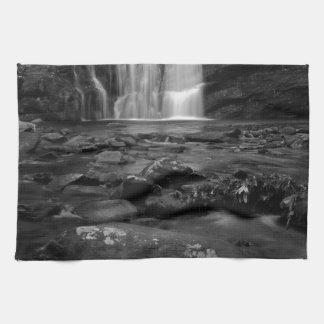 Bald River Falls bw.jpg Kitchen Towel