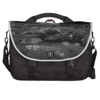 Bald River Falls bw.jpg Laptop Messenger Bag