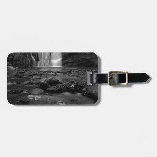 Bald River Falls bw.jpg Luggage Tags