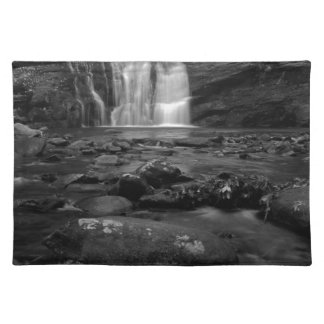Bald River Falls bw jpg Place Mat