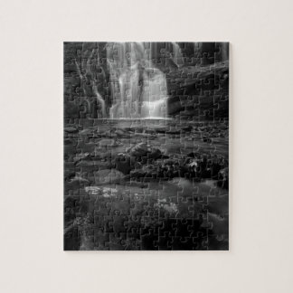Bald River Falls bw.jpg Puzzle