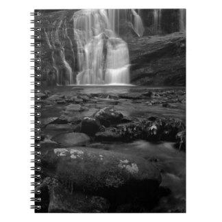 Bald River Falls bw.jpg Spiral Notebooks