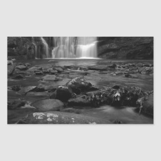 Bald River Falls bw.jpg Rectangular Sticker