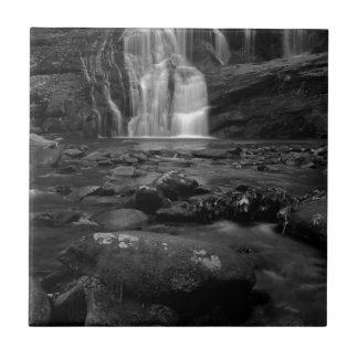 Bald River Falls bw.jpg Small Square Tile