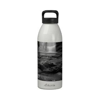 Bald River Falls bw jpg Water Bottle