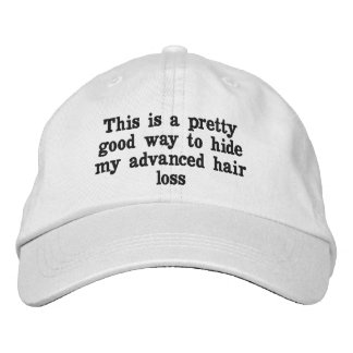 Baldness denial affirmation hat