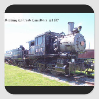 Baldwin Built Reading Railroad Camelback  #1187 Square Sticker