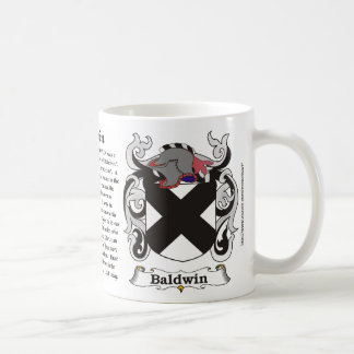 Baldwin Family Coat of Arms Mug