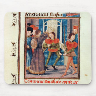Baldwin I  Sixth Count of Hainaut crowned Mouse Pad
