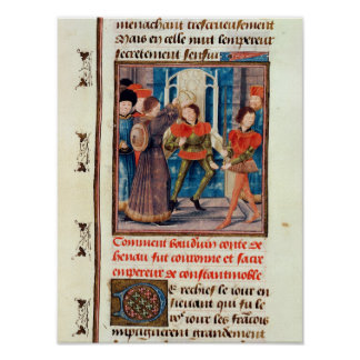 Baldwin I  Sixth Count of Hainaut crowned Poster