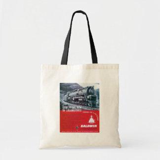 Baldwin Locomotive S-2 PRR Steam Turbine Canvas Bags