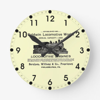 Baldwin Locomotive Works 1895 Wall Clock