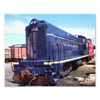 Baldwin Locomotive  Works-B&O Locomotive 412 Photo Art