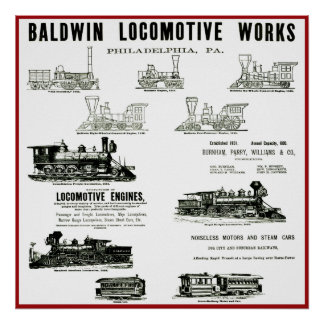 Baldwin Locomotive Works Poster