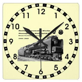 Baldwin Locomotive Works S-2 PRR Steam Turbine Square Wall Clock
