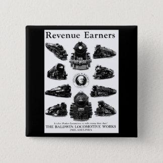Baldwin Locomotives,Revenue Earners 15 Cm Square Badge