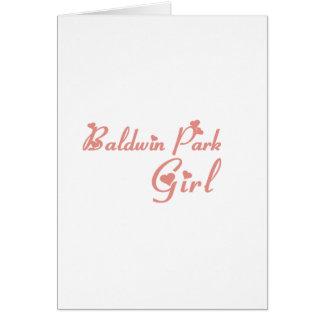 Baldwin Park Girl tee shirts Greeting Cards