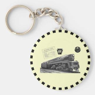 Baldwin-Pennsylvania Railroad T-1 Steam Locomotive Basic Round Button Key Ring
