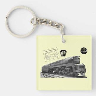 Baldwin-Pennsylvania Railroad T-1 Steam Locomotive Acrylic Keychains