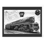 Baldwin-Pennsylvania Railroad T-1 Steam Locomotive Postcard