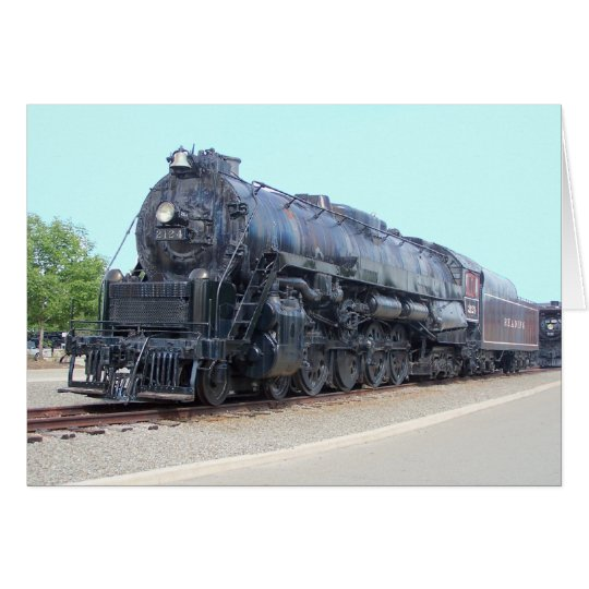 Baldwin- Reading Railroad Locomotive 2124 Card
