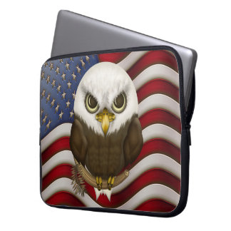 Baldwin The Cute Bald Eagle Laptop Sleeve
