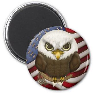 Baldwin The Cute Bald Eagle 6 Cm Round Magnet