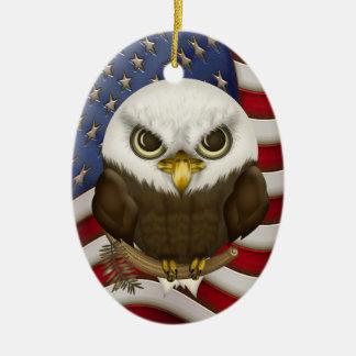 Baldwin The Cute Bald Eagle Personalized Christmas Ornament