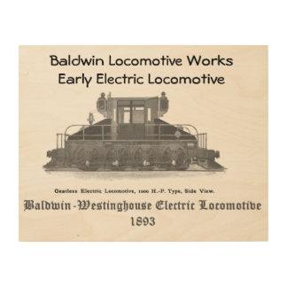Baldwin Westinghouse Electric locomotive 1893 Wood Print