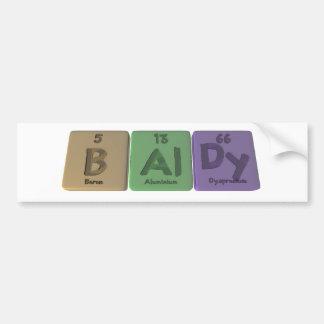 Baldy-B-Al-Dy-Boron-Aluminium-Dysprosium.png Car Bumper Sticker