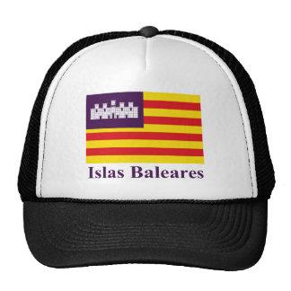 Balearic Islands flag with name Cap