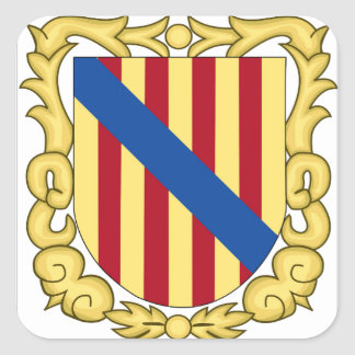 Balearic Islands (Spain) Coat of Arms Square Sticker