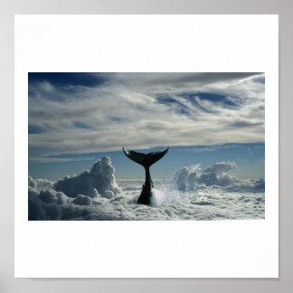 Baleia nas nuvens print