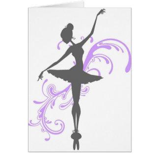 Balerina Greeting Card