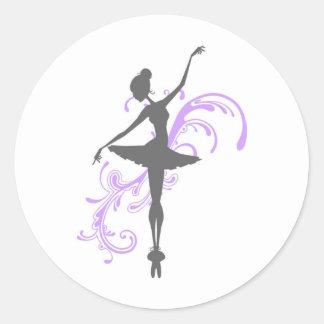 Balerina Round Sticker