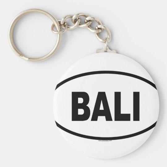 BALI BASIC ROUND BUTTON KEY RING