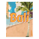 Bali Beach vintage travel poster Post Cards