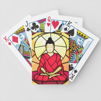 Bali buddha stain glass window bicycle playing cards