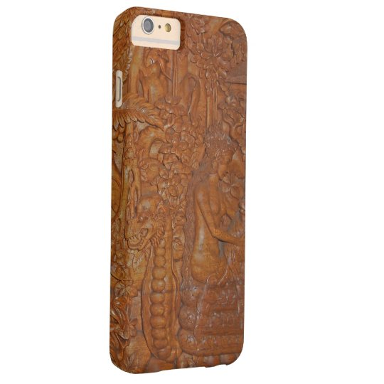Bali Dragon Fairytale Wood Art Barely There iPhone