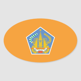 Bali Flag, Indonesia Oval Sticker