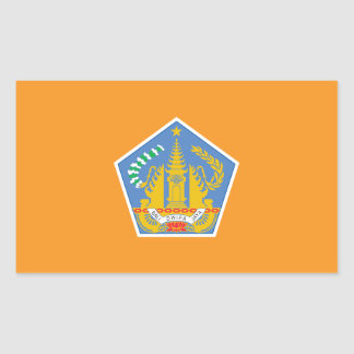 Bali Flag, Indonesia Rectangular Sticker