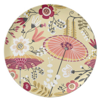 Bali garden dinner plate