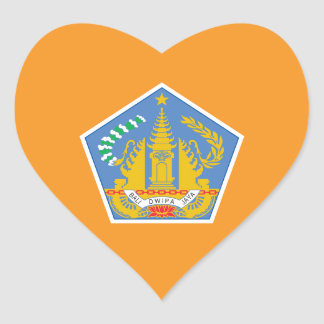 Bali Heart Flag, Indonesia Heart Sticker